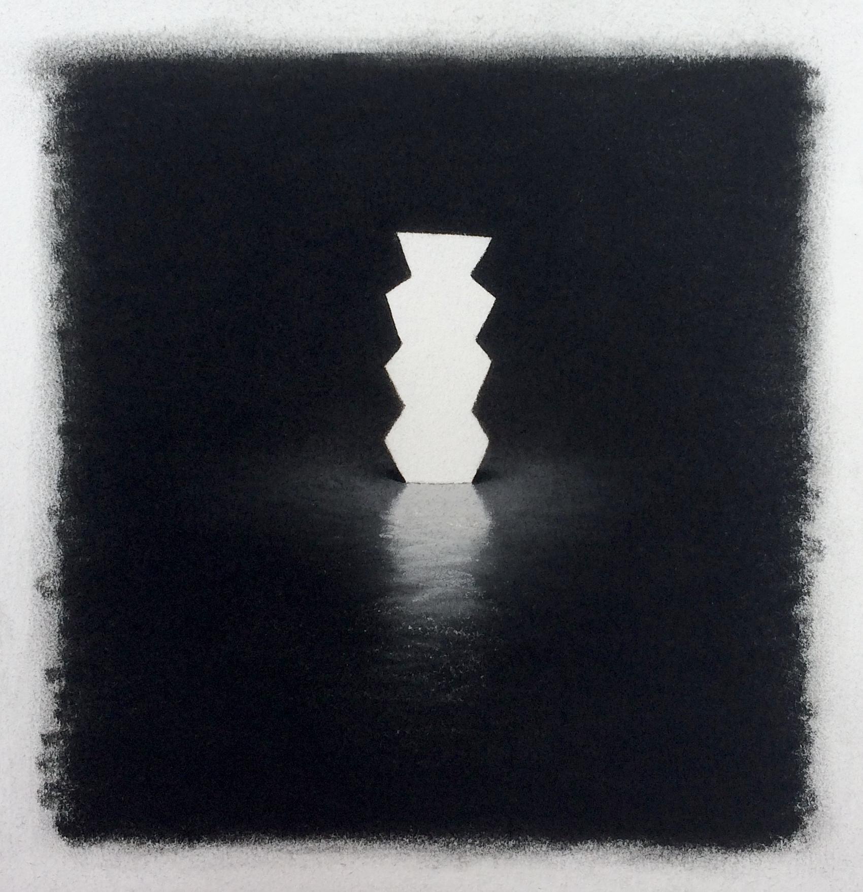 "Aztec,  Pastel on Paper, 9""x8"", 2018"