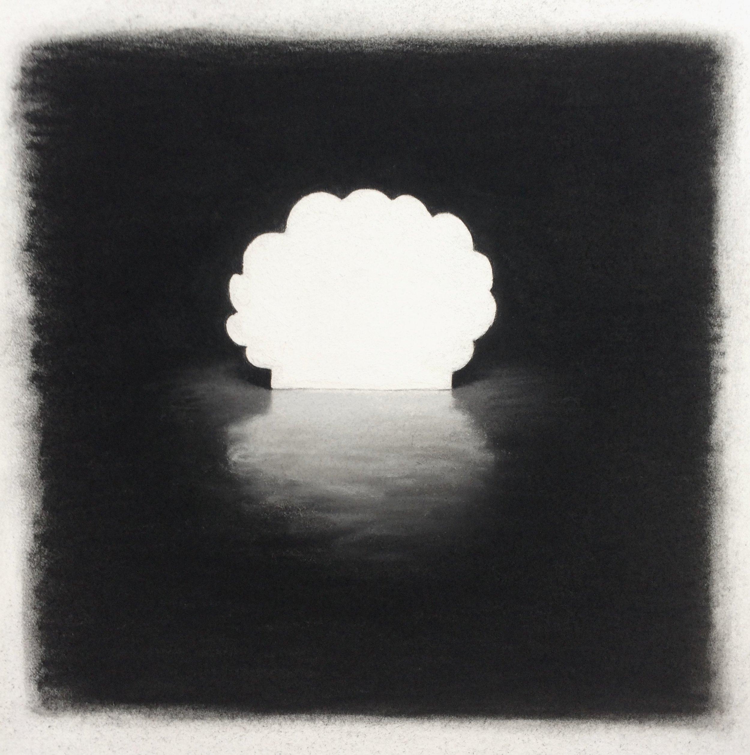 "Clammy , Pastel on Paper, 10.5""x10"", 2018"