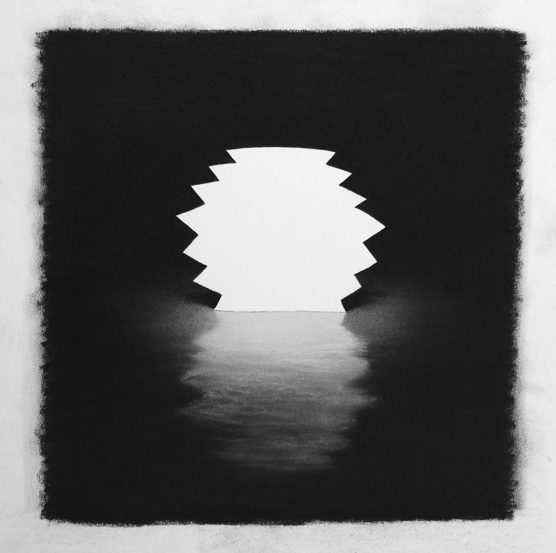 "Lantern , pastel on paper, 11""x10"", 2018"