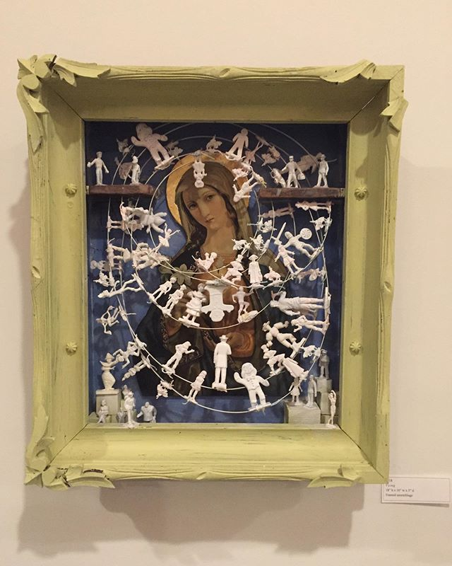 The #assemblage work of Centerville's art teacher @barbaramartin.artist will be displayed through April at The Betty, Front Street. Stop by to see her beautiful show! 😍  #art #artist #contemporaryart #daytonartist #artgallery #dayton
