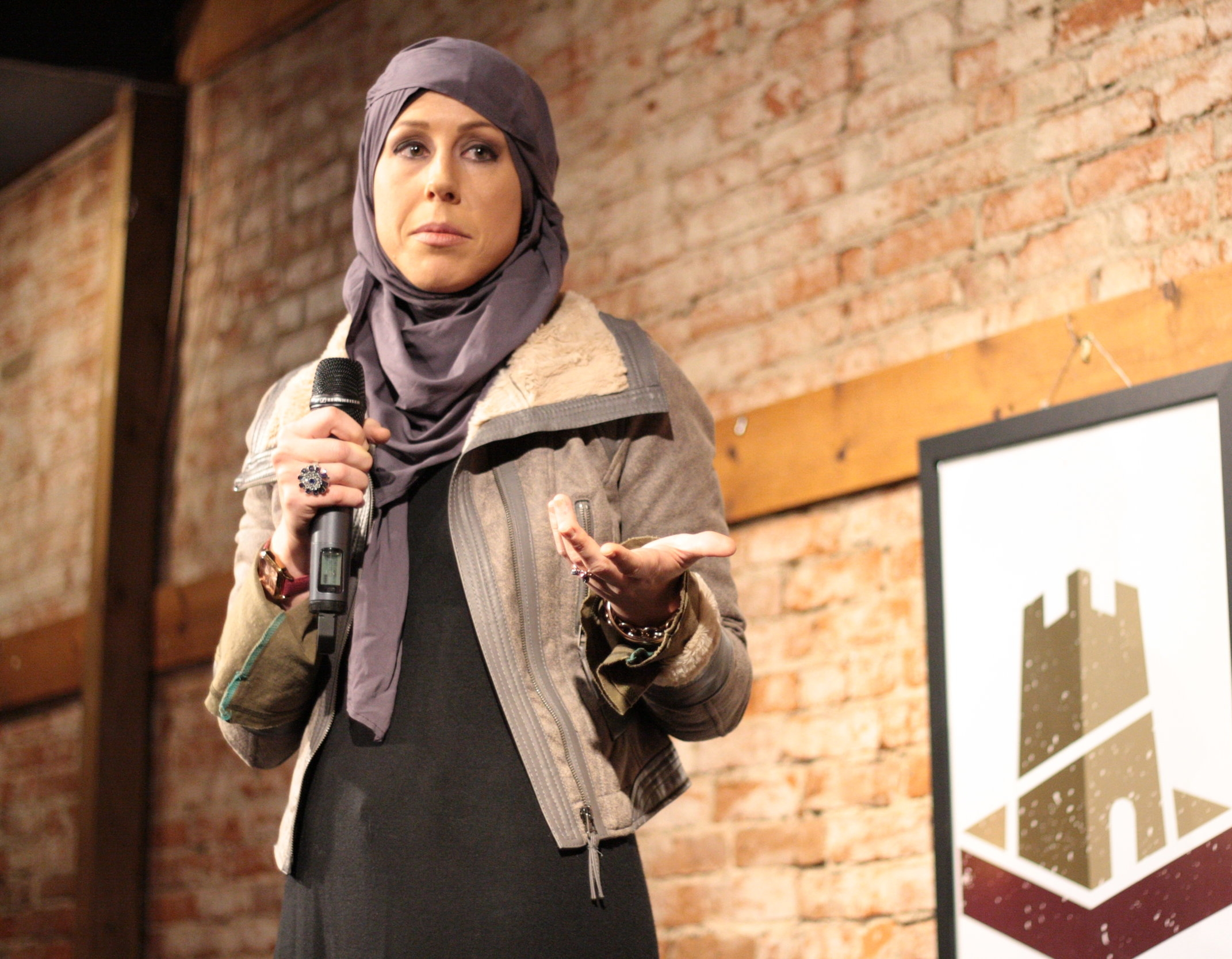 REGINA MUSTAFA    Interfaith Dialouge  Regina shared some common misunderstandings about the Muslim faith and why interfaith dialogue is so important.