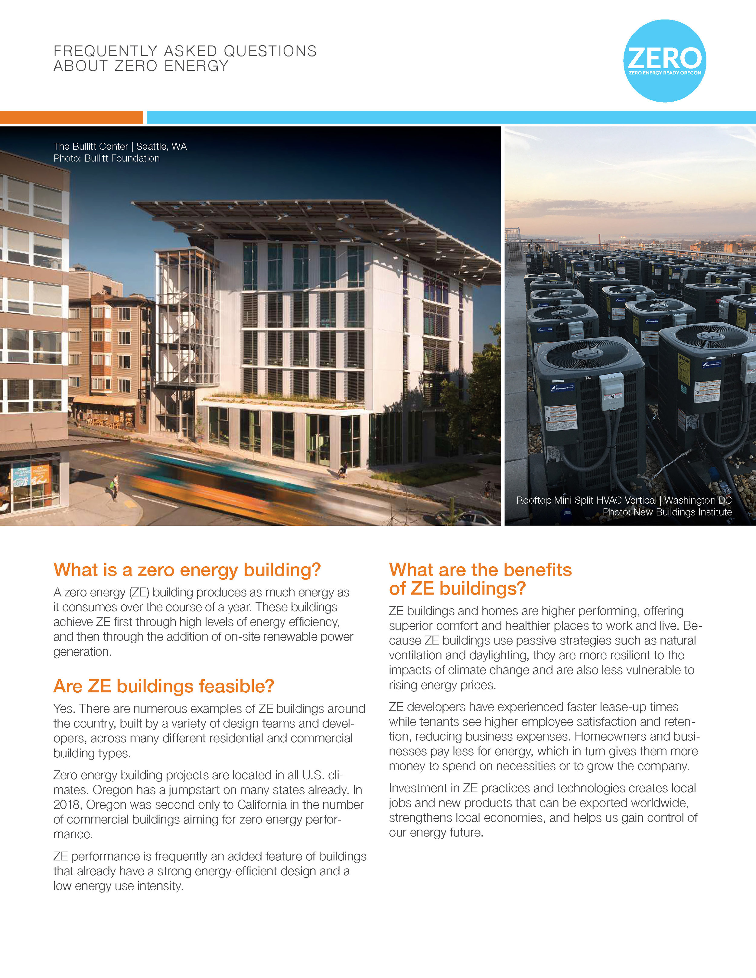 FAQ About Zero Energy  - Get answers to common questions that come up about zero energy buildings.