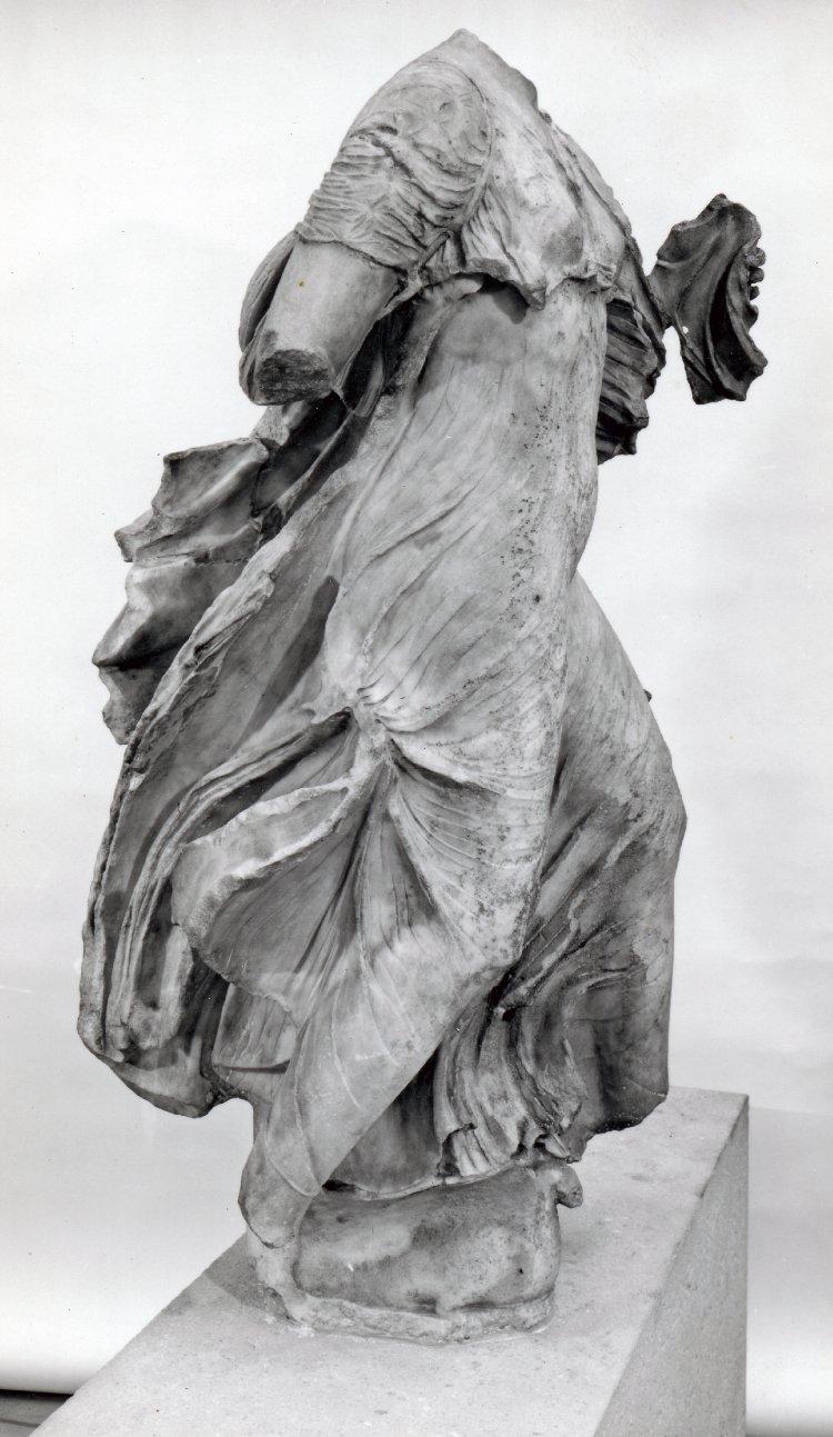 Nereid from  the Nereid Monument  at The British Museum. Museum number 1848,1020.81