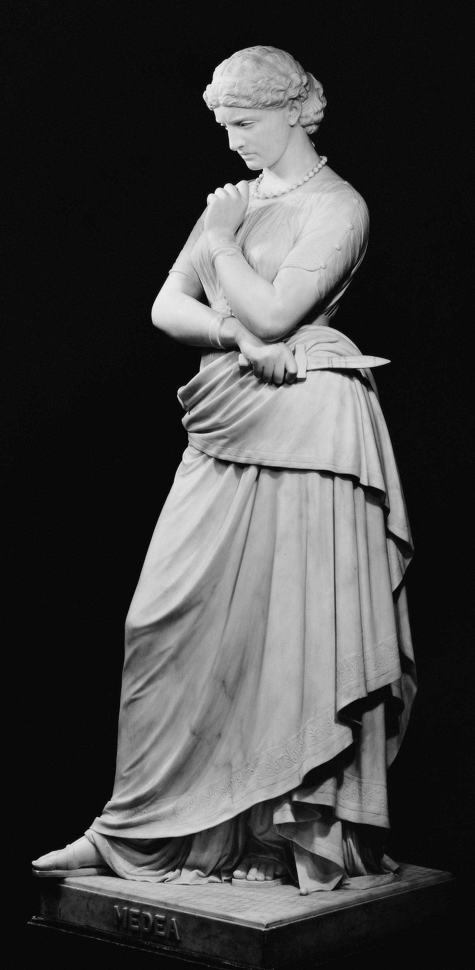 Medea , William Wetmore Story (American, Boston, Massachusetts 1819–1895 Vallombrosa),  The Met 5th Avenue