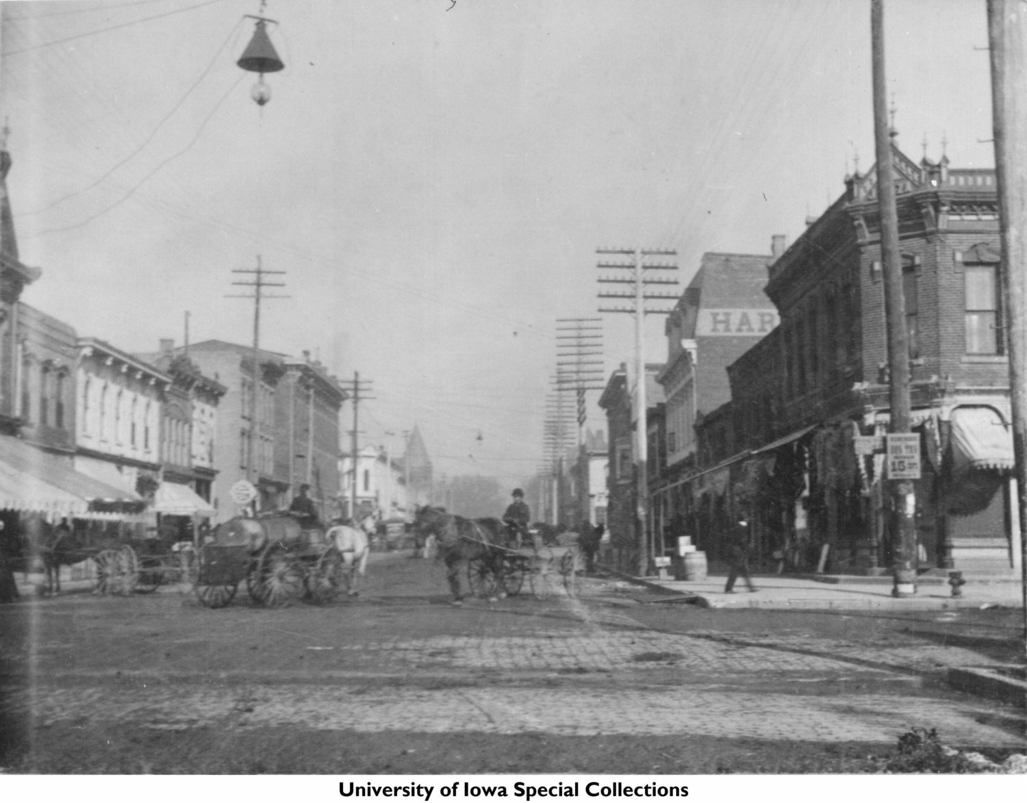 """Our apartment on the ped-mall can be seen  here  as the block looked in 1893/1895, with """"HAR"""" visible on its side."""