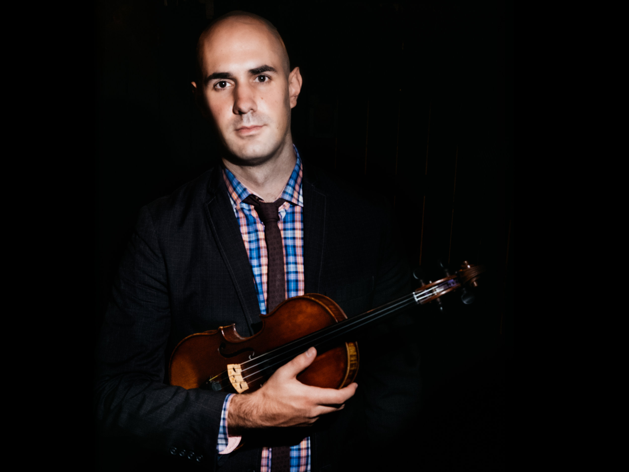 nick montopoli - Nick is a violinist, banjo player, and co-composer for Invoke, a folk-infused string group whose repertoire features original compositions by the group and works by exciting young American composers. Invoke won First Prize at the 2018 M-Prize and Coltman competitions, and maintains an active performance schedule around the country. Nick also performs as Concertmaster of the Round Rock Symphony, and frequently joins other local groups including the Austin Symphony and Tetractys. Nick and Invoke have collaborated with Graham and Golden Hornet on a number of live and studio projects over the past few years, including the String Quartet Smackdown and Ballet Austin's Grimm Tales. Alongside James, he supports Graham's daily studio work. For more on Nick's projects, check out his website.