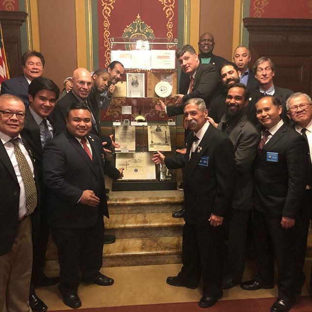 4th Manhattan District Square Club General Meeting with artifacts of the Glorious Fourth on loan from the Livingston Masonic Library. #nymasons