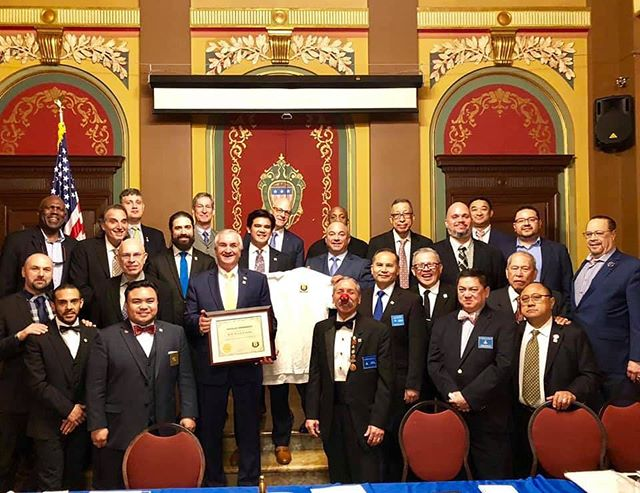 Our newest and only honorary member of the 4th Manhattan Square Club.  @billsardone #nymasons