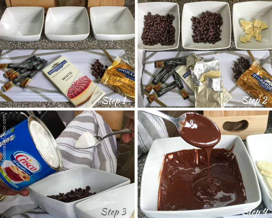 How to Make Café con Leche with Chocolate Spoons | www.JadoreLeDecor.com | sweet coffee treats, small gifts for guests