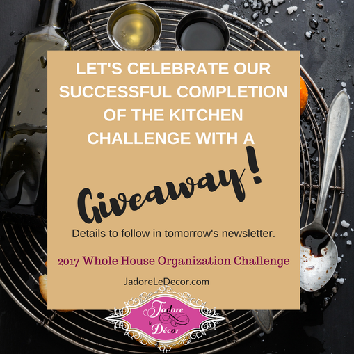 How to Organize Under the Kitchen Sink | Whole House Organization Challenge | www.JadoreLeDecor.com | Small space organization