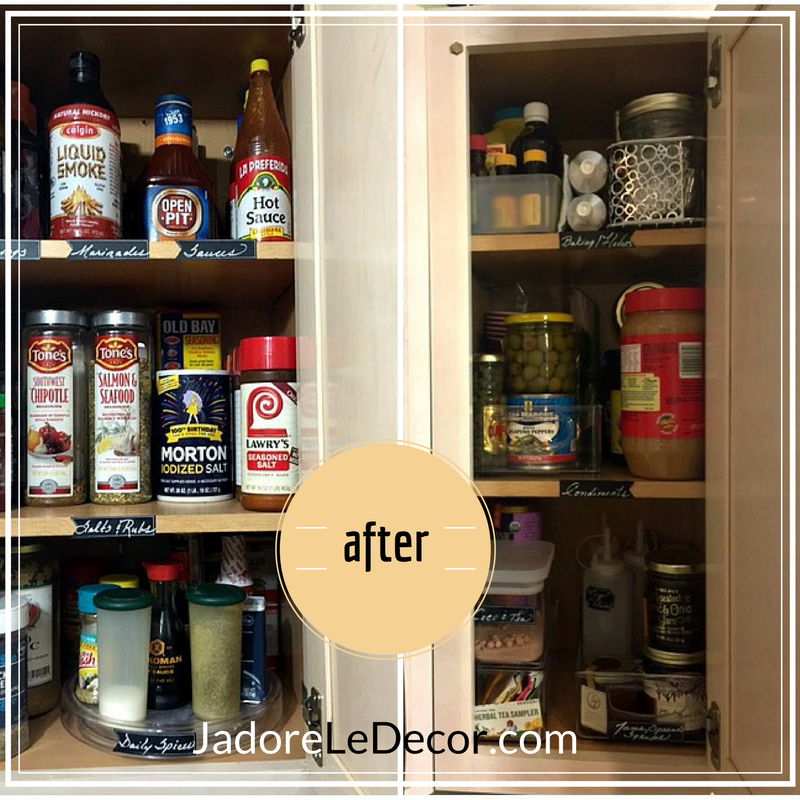 Tips for organizing a small pantry in an apartment or small home | www.JadoreLeDecor.com | Small space organization and living