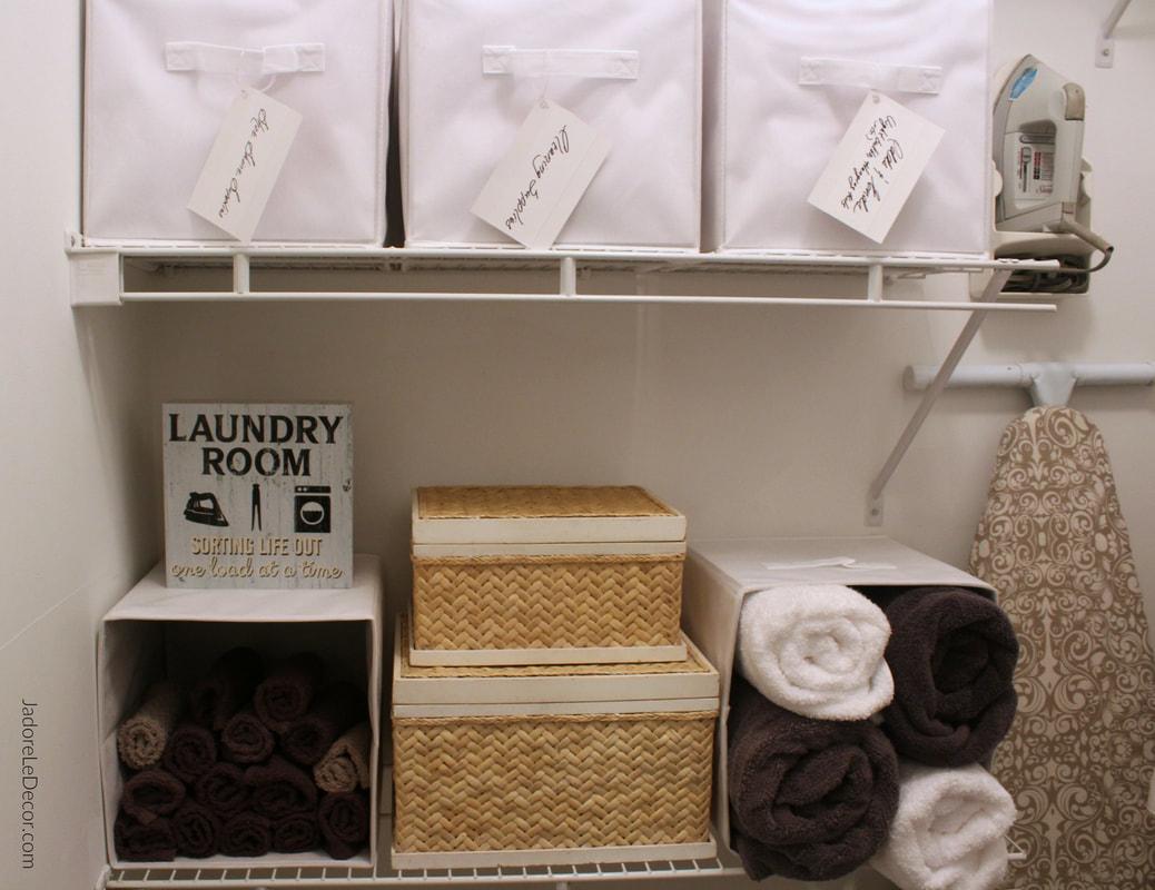 www.JadoreLeDecor.com | Apartment laundry room organization | Small space living