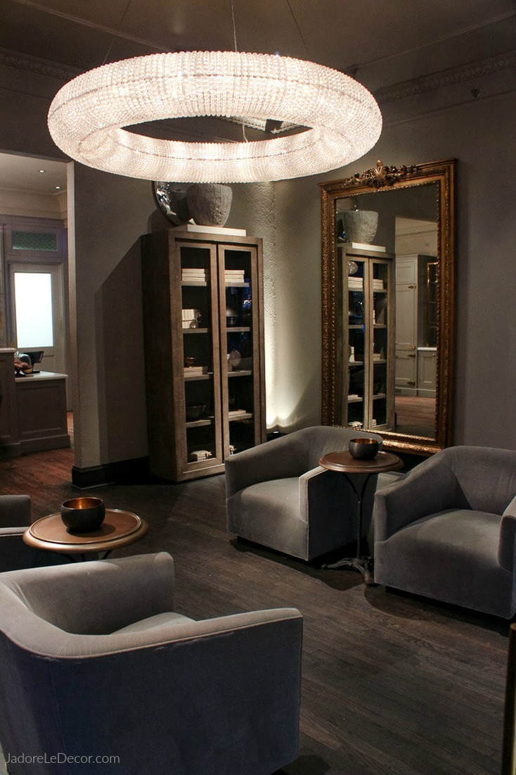 www.JadoreLeDecor.com | A review of luxury home furnishings purveyor, RH's (Restoration Hardware) restaurant store in Chicago.