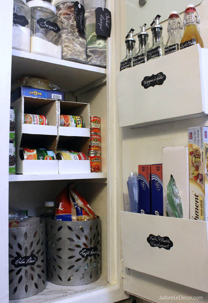 www.JadoreLeDecor.com   Unconventional solutions that address common pesky problems in a small kitchen.   Small Kitchen   Small Pantry