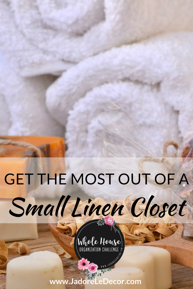 www.JadoreLeDecor.com   With a little effort and forethought, you can achieve a dreamy look in your own small linen closet.   Small space organization
