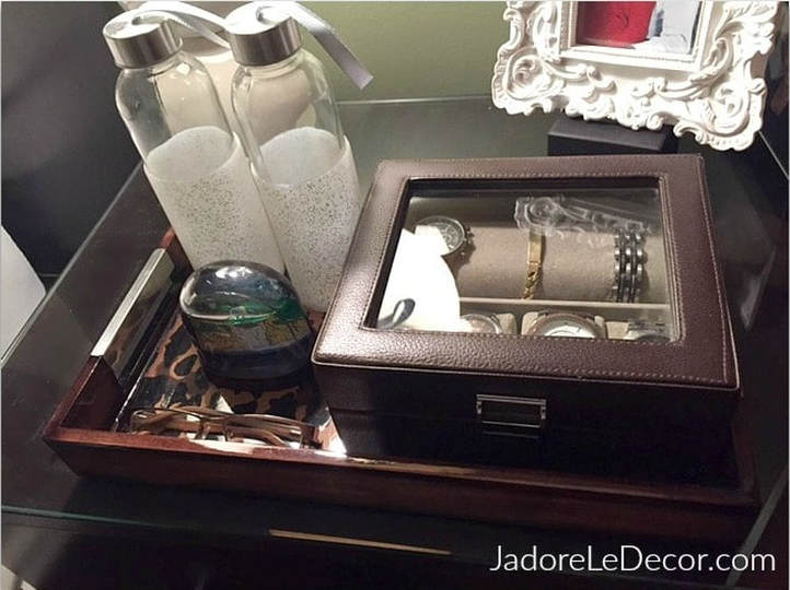 www.JadoreLeDecor.com | Organize your bedroom for better sleep, better health, and a calm atmosphere for you and your spouse. | Bedroom Organization | Small space living and organization | Whole House Organization Challenge