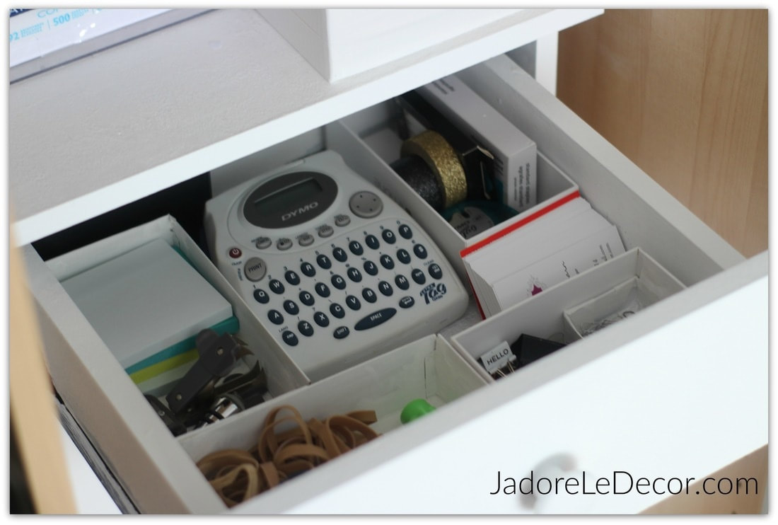 www.JadoreLeDecor.com | Because of all that we demand from them, multi-purpose spaces can be a serious pain to organize. Let me share some tips with you on how I organize my combination room. | Organization | Multi-purpose Rooms | Combination Rooms | Whole House Organization Challenge