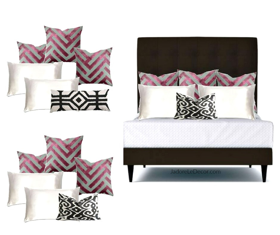 www.JadoreLeDecor.com | Mixing and matching patterns can be tricky. Advice from an experienced interior designer can save a ton of time and frustration. | Small space living | Design Inspiration | Bedroom Makeover | Pattern Clashing