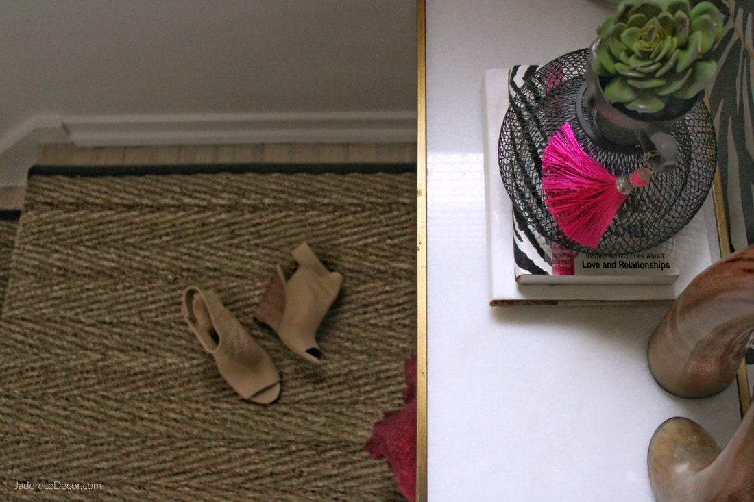 www.JadoreLeDecor.com | One Room Challenge: Revealing a Hidden Gem in the Home See how we transformed this simple hallway into what is now a brilliant gem in our home. | Small Space Makeover | Hallway Refresh