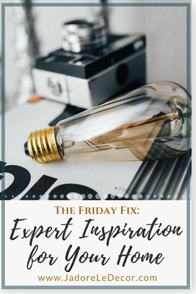 www.JadoreLeDecor.com   If you're one who learns by watching others, you will enjoy this Friday's Fix. Today I'm giving you a little dose of decor eye-candy and inspiration from a few rising stars in the interior design world.   Design Inspiration