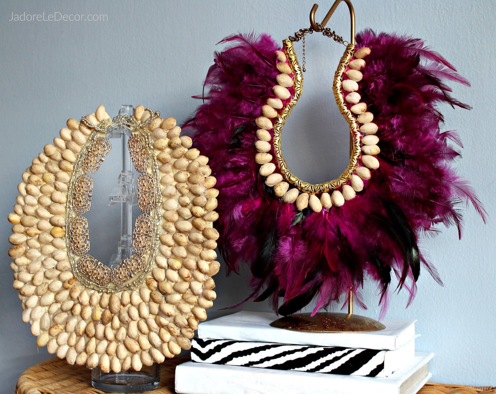 www.JadoreLeDecor.com | I'm excited to share with you today is a tutorial on how to make a sinfully easy, and stunning tribal necklace. | Easy Crafts | Tribal Decor | Bohemian Decor