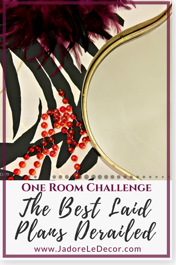 www.JadoreLeDecor.com   See how I tackle small derailments in my quest to finish my space for the Fall 2017 One Room Challenge.   Small Space Makeover   Hallway makeover