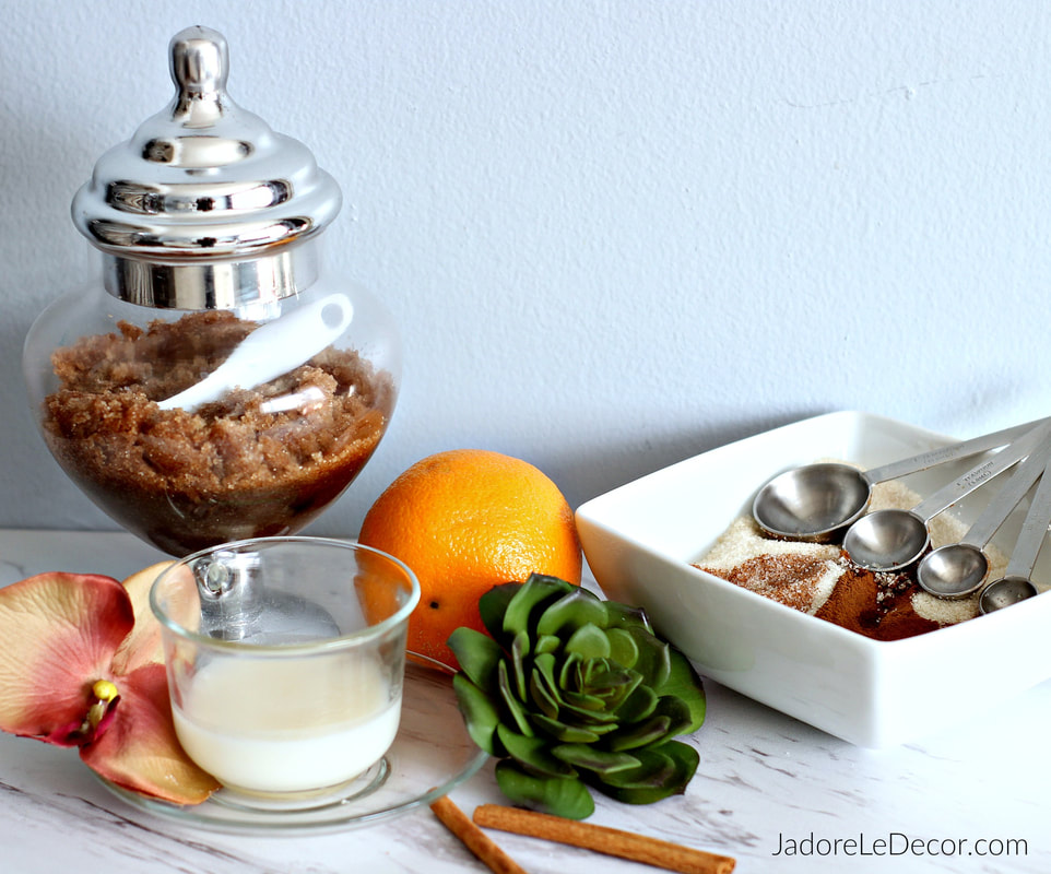 www.JadoreLeDecor.com | Hot to create a soothing treat for tired hands. | Personal Care | DIY Sugar Scrub