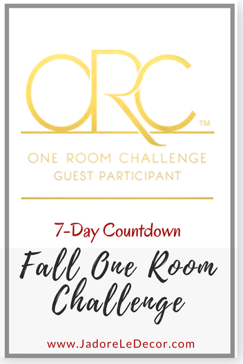 www.JadoreLeDecor.com | One Room Challenge 2017