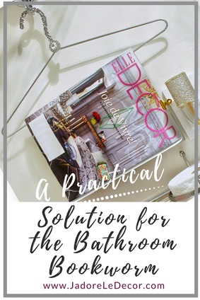 www.JadoreLeDecor.com | An alternative solution to the area behind the commode.| Small space living | Small bathroom