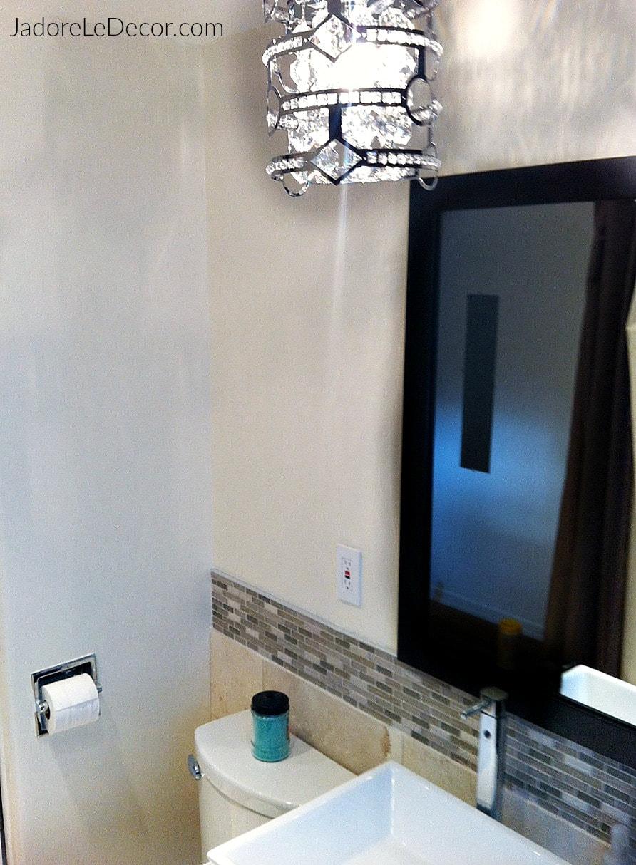 www.JadoreLeDecor.com | Follow along as I recount our ambitious small bathroom renovation. | Small space living | Small Bathrooms