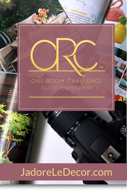 www.JadoreLeDecor.com |Follow along as I attempt my very first participation with One Room Challenge makeover.