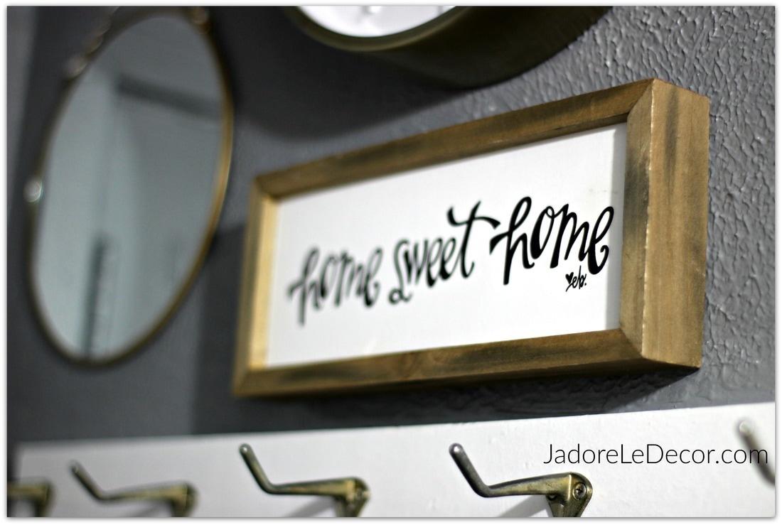 www.JadoreLeDecor.com | small foyer,no foyer organization project | Small Space Living | Whole House Organization Challenge