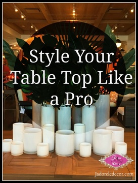 www.JadoreleDecor.com | How to style your dining room table like a pro.