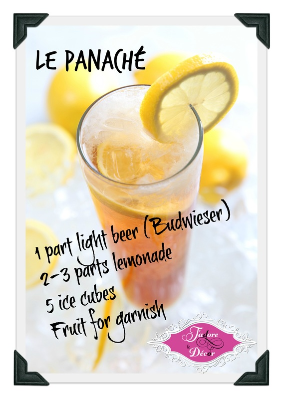 www.JadoreleDecor.com | Let me show you how to prepare a French apéritif called the panaché (pronunced pa-na-SHAY)