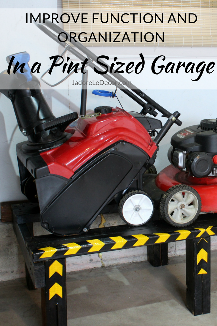 www.JadoreLeDecor.com | Small Garage Organization