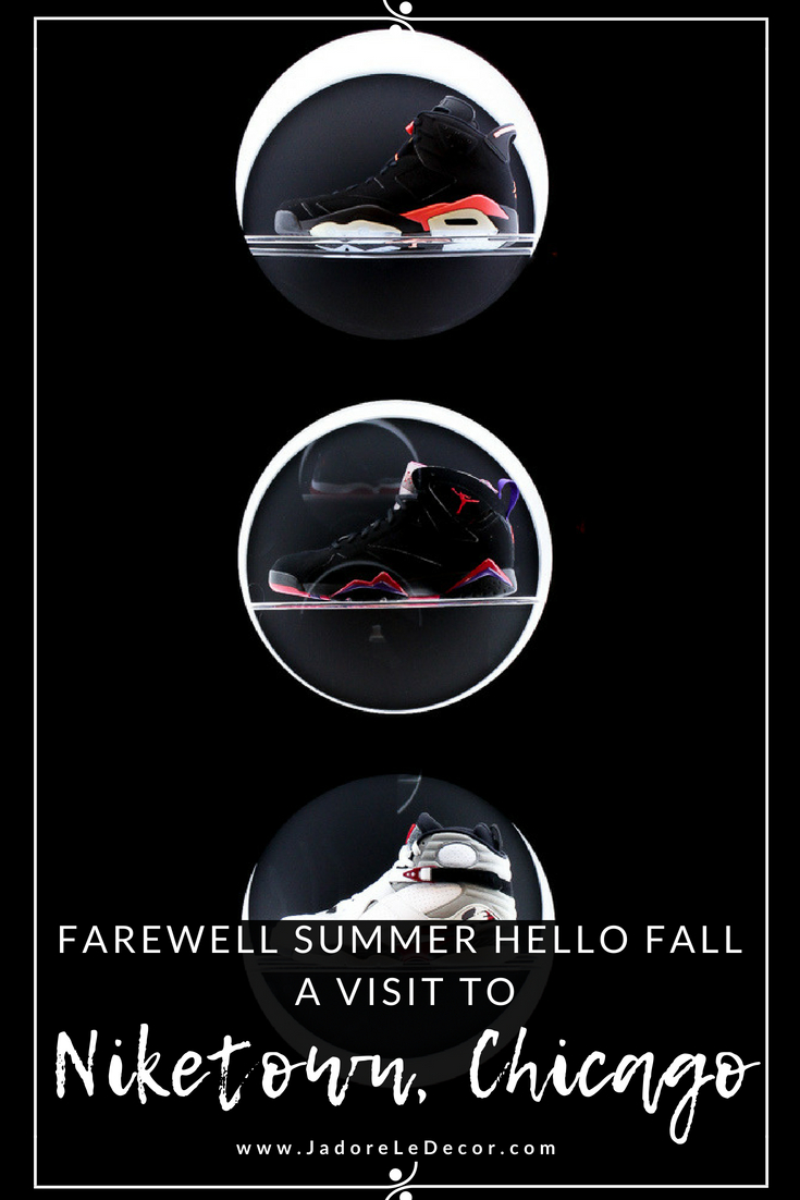 www.JadoreleDecor.com | A fun family excursion to help bid farewell to summer while welcoming fall at the same time. | Niketown Chicago | Sports | Commercial spaces