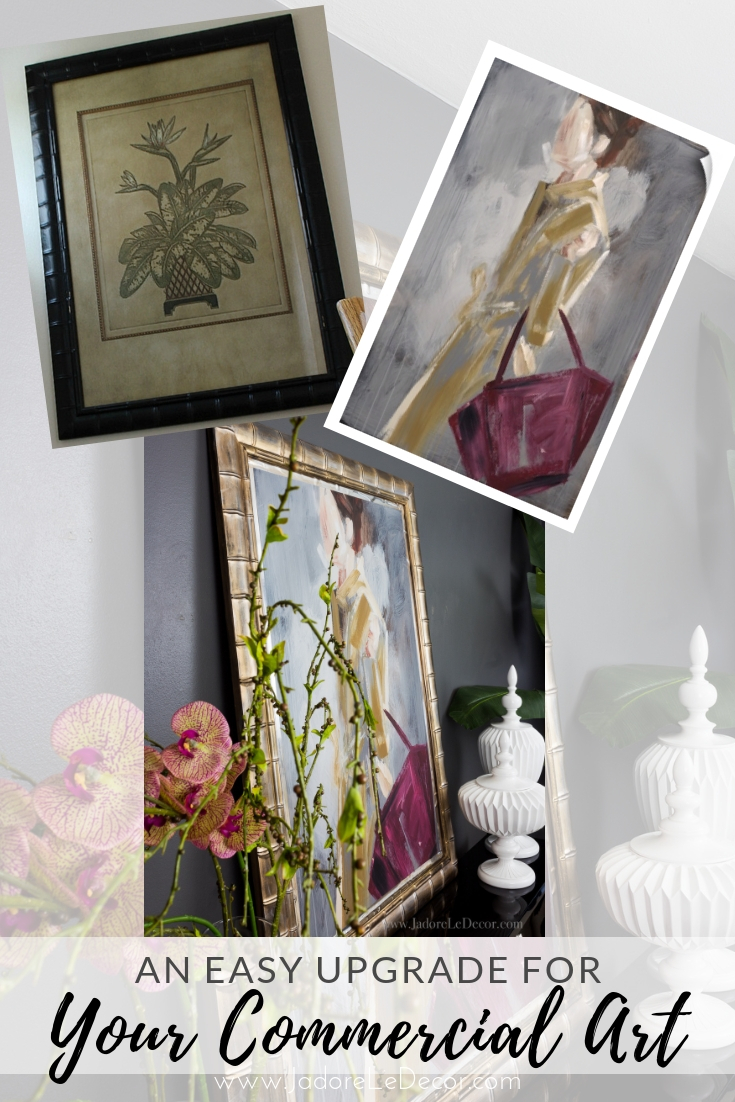 www.jadoreledecor.com | How to Upgrade Your Commercial Art the Easy Way | Before you toss that commercial art, try this $25 upgrade! | Easy DIY | Home Decor | DIY Art | Small Space Ideas #greatbigcanvas #diyart #jadoreledecor #smallspaceidea #apartmentlife