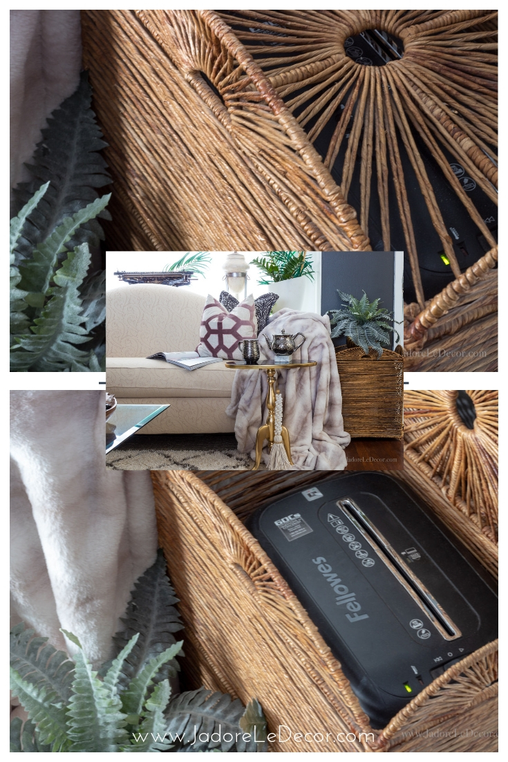www.jadoreledecor.com | Practical tips for creating a faux entryway when one doesn't exist | small space organization | bohemian entryway | no entryway| #wholehouseorganizationchallenge #boholuxe #smallspaces #smallentryway