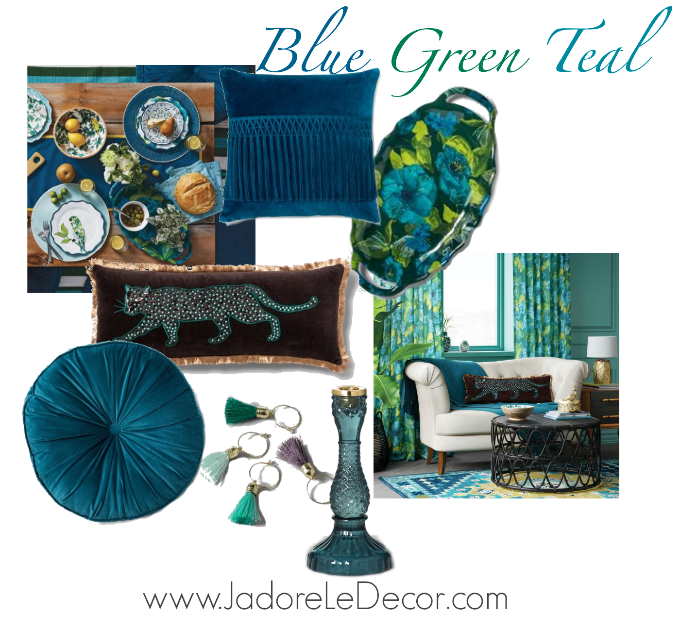 www.jadoreledecor.com | Rich Vibrant Teal: What I'm diggin' right now. Follow me as I discuss my growing obsession with the color Teal.| #Oneroomchallenge #bohemianluxe #colorfulinteriors #secretstylingclub #globalbohemianchic #stopandstaredecor #tealfashion #tealinteiors #tealcolor