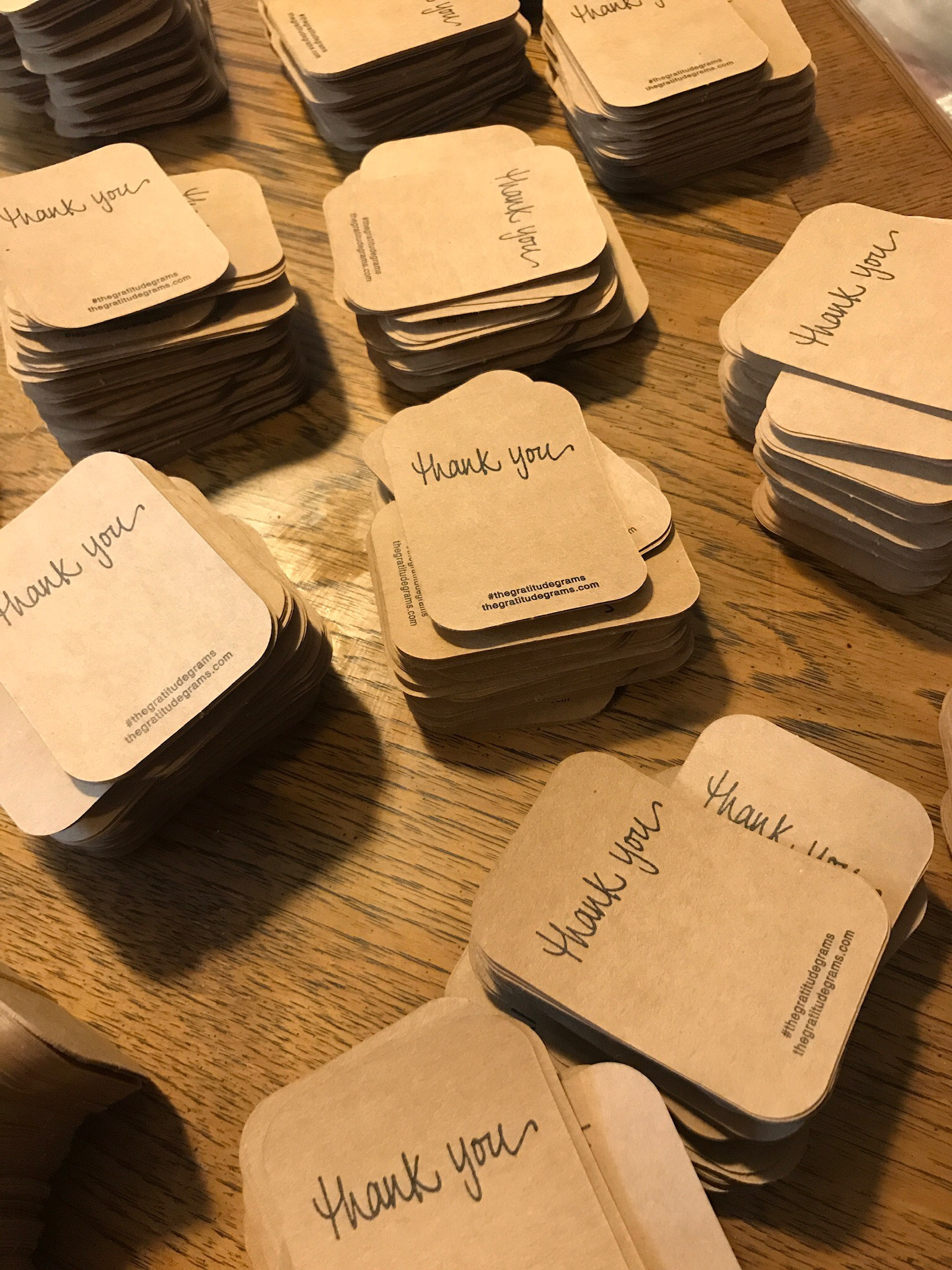 The Gratitudegrams - Gratitudegrams are hand-sized tokens of appreciation made from recycled kraft paper. It is designed and produced to encourage people to spread their gratitude and kindness with other people.Learn More