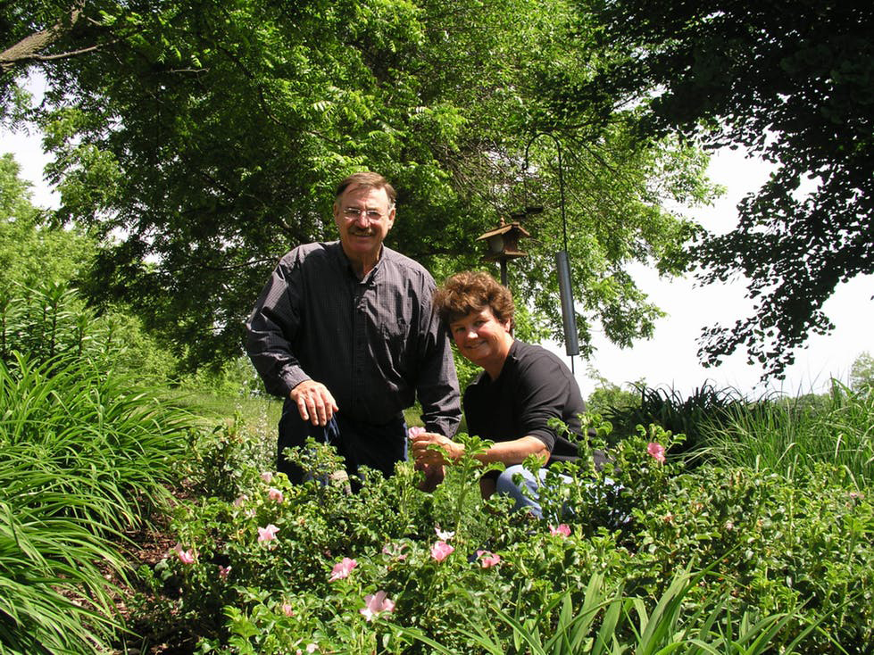 Shady Acres Herb Farm founders, Jim and Theresa Mieseler -