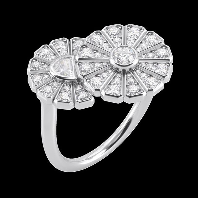 Brightcut introduces its #highjewelry collection, inspired by Japanese fans. Fan symbolizes the beginning of life and the ribs stand for the roads of life going out in all directions to bring good fortune and happiness. ⠀ Platinum bypass style diamond ring with highest quality gemstones with bezel set round and half moon cut diamonds. Inquire via email or DM.⠀ .⠀ .⠀ .⠀ .⠀ #finejewelry #jewelry #luxury #diamonds #instajewelry #jewelrygram #luxuryjewelry #hautejoaillerie #jewelrydesign #jewelryoftheday #finejewellery #earrings #jewels #jewelsofinstagram #fashionjewelry #highjewelry