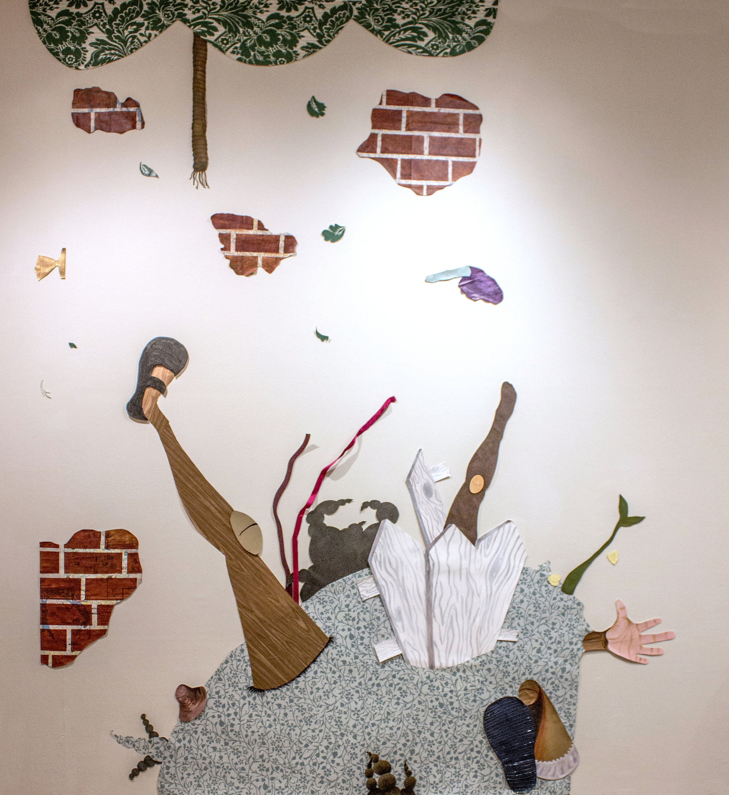 When the bough breaks  60 x 90 in mixed media collage installation 2014  Commissioned by Schomberg Center for Research