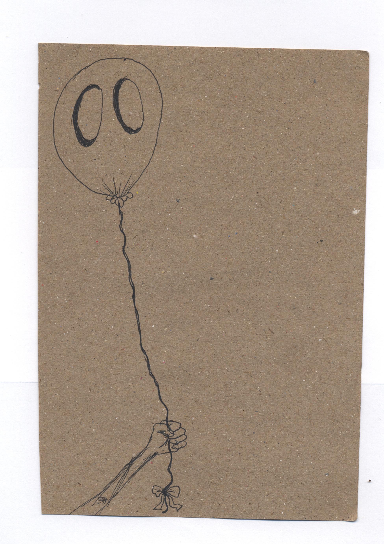 caught  pen & ink on kraft paper 2011