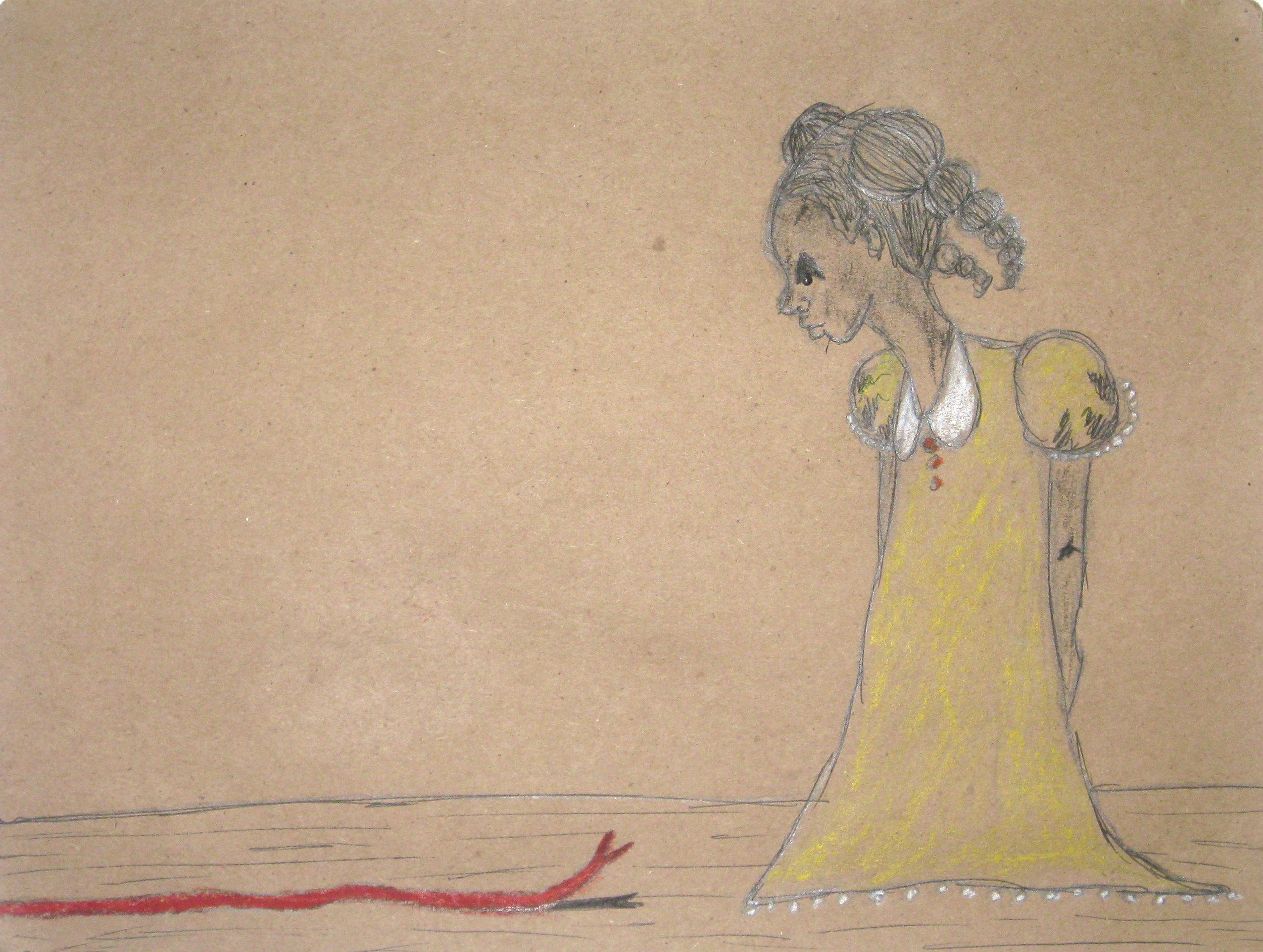 untitled  pen & ink on kraft paper 2011