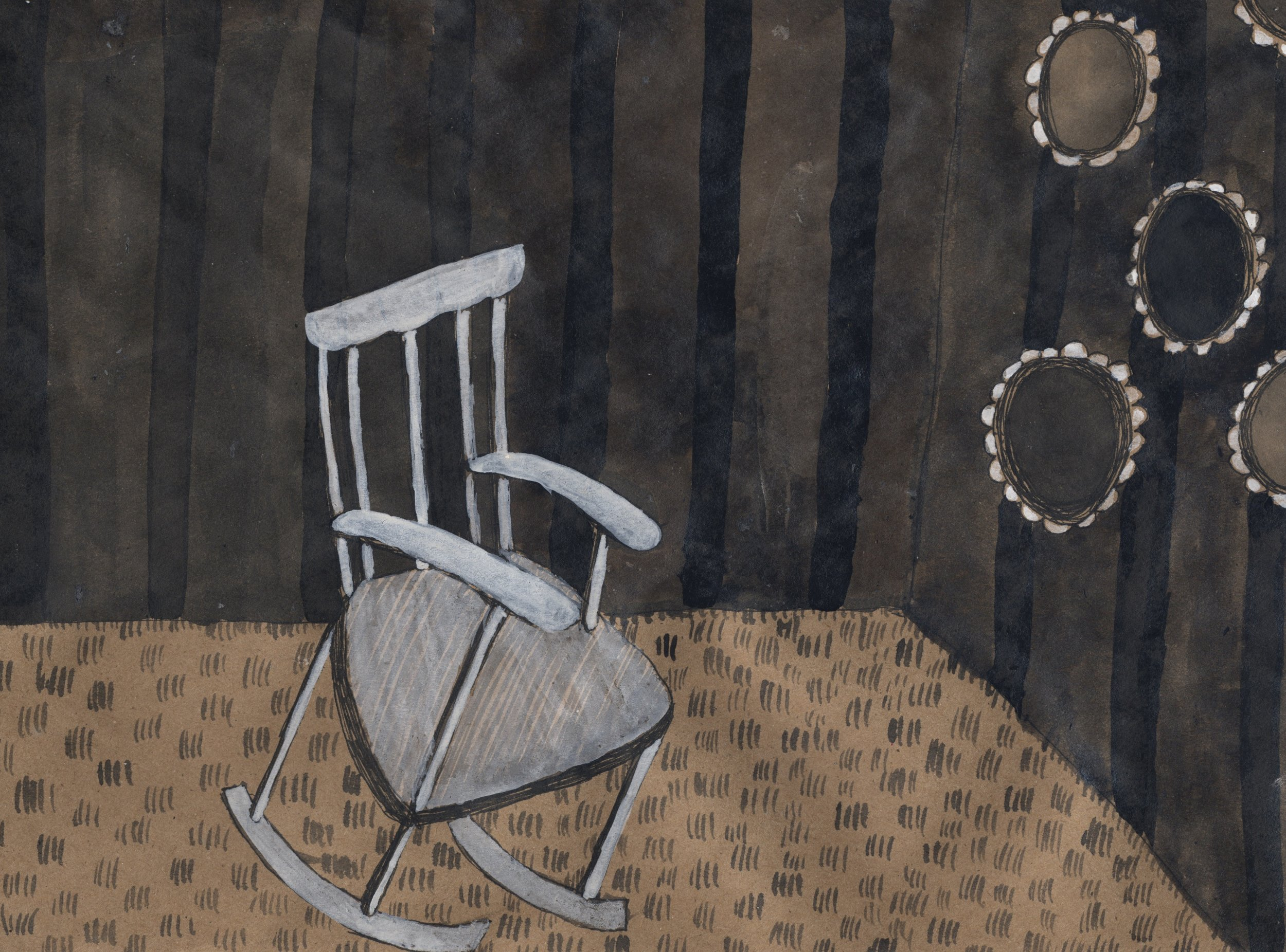favorite chair  pen & ink on kraft paper 2011