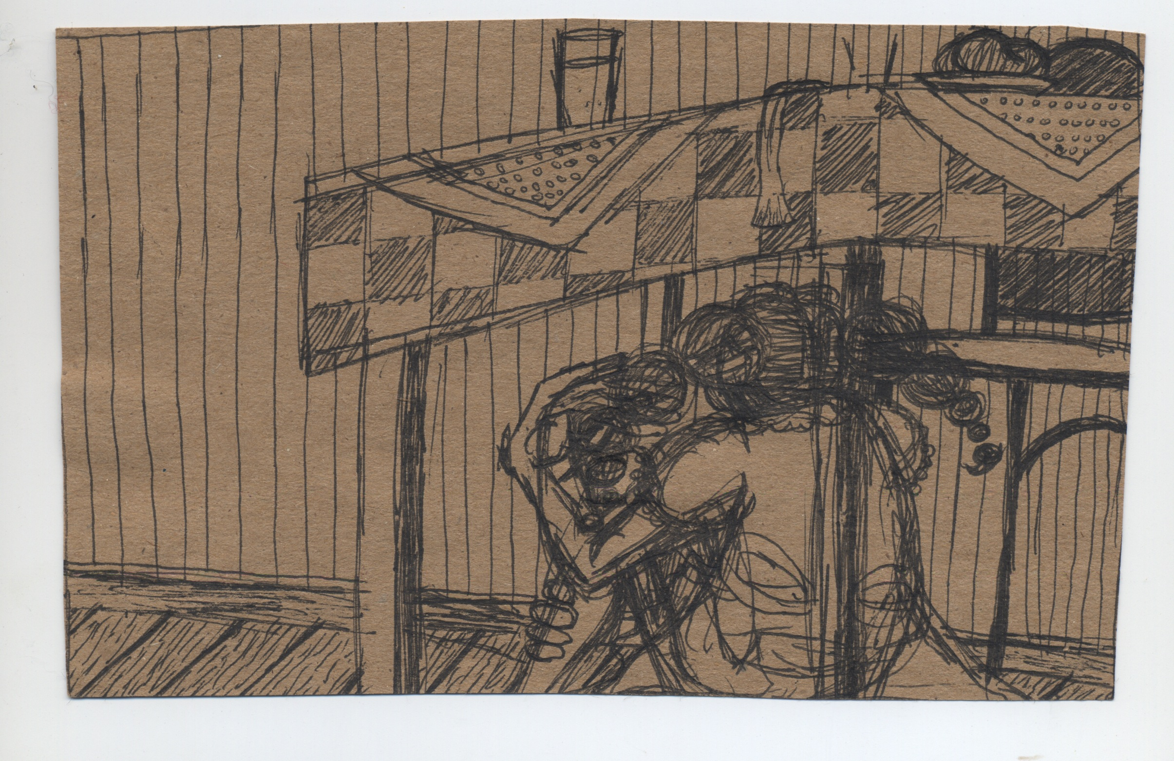 invisible  pen & ink on kraft paper 2010