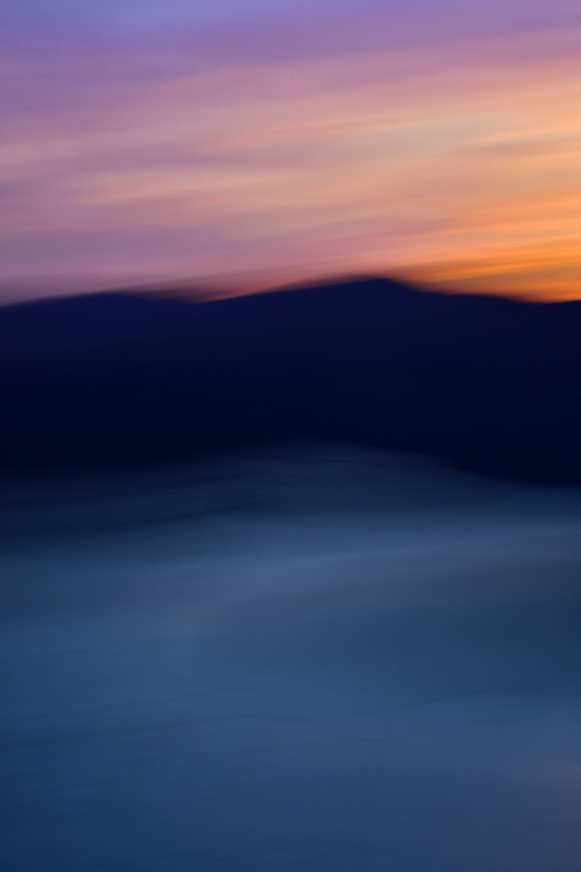 Mountain Sunset Abstract
