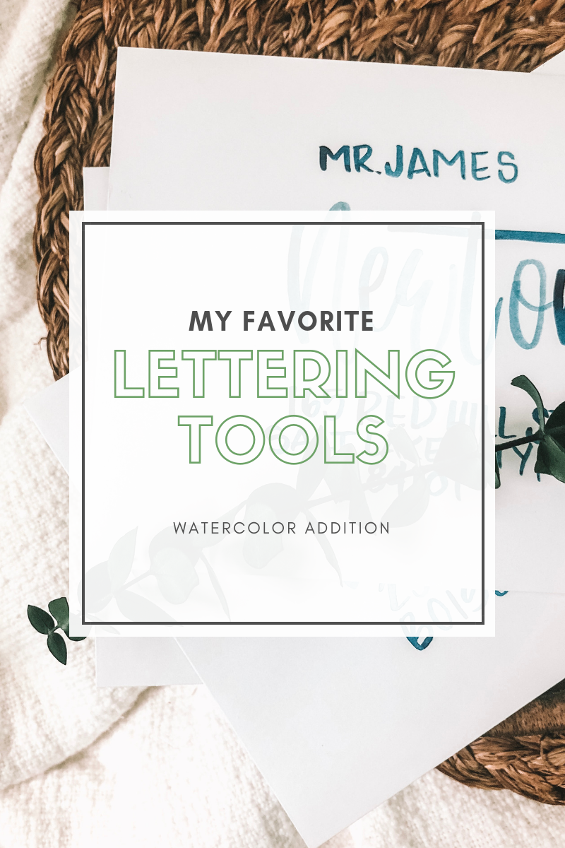 lettering tools for Water Color Calligraphy