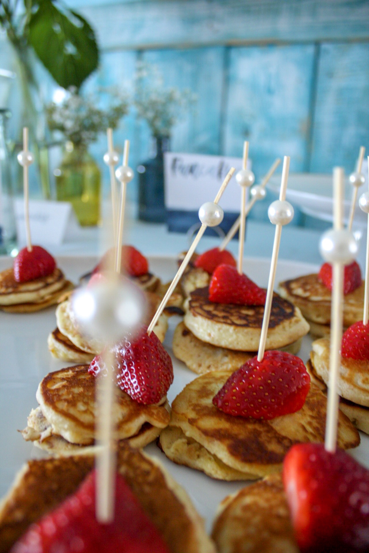 bridal sprinkle brunch mini pancakes